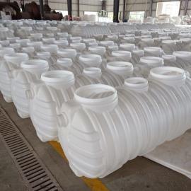 无缝隙密封1.5m3化粪池三格式塑料化粪池