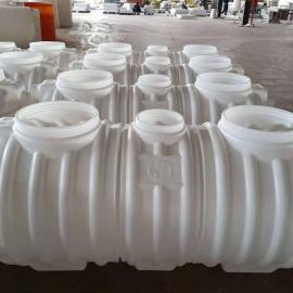 耐腐蚀PE3m3化粪池三格式塑料化粪池