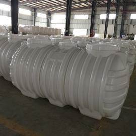 耐腐蚀PE1m3化粪池三格式塑料化粪池