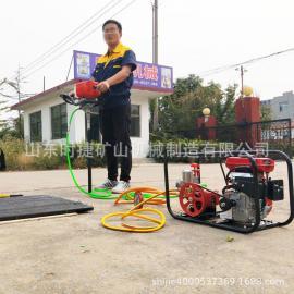 应便携式单人背包钻机日本三菱汽油机动力足工程取样岩芯钻机