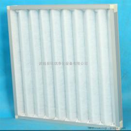 初效板式空气过滤器 净化箱内置初效龙骨架空气过滤器