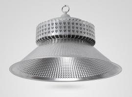 麒麟LED工矿灯钢架厂房结构灯200w/250/300w/吊杆吊链8米高安装