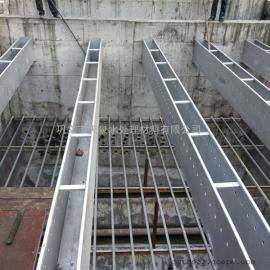 自来水厂专用集水槽-定制各种孔型不锈钢集水槽