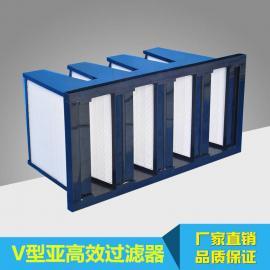 高效空气过滤器 塑框纸芯高效过滤器 V型亚高效空气过滤器