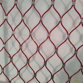 卡扣连接式不锈钢绳网,带卡扣的大眼网,卡扣钢丝绳网
