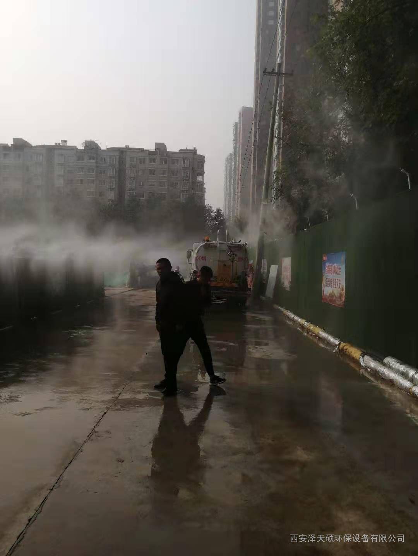 地铁工地围挡喷淋降尘系统围挡喷淋制作方案