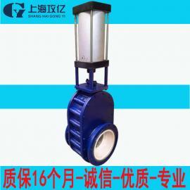 PZ644TC-10C-DN250重型陶瓷刀闸阀 手动暗板对夹刀型闸阀
