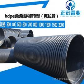 大量现货HDPE双壁缠绕管PE中空壁缠绕管规格埋地市政排水管300