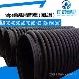 正宏PE排污排水管全国HDPE钢带增强波纹管埋地钢带管500现货