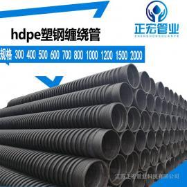 HDPE排污排水管HDPE克拉管HDPE中空缠绕管HDPE钢带管现货