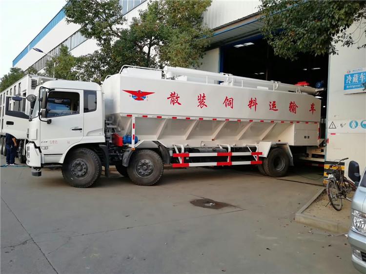 养殖场饲料运输车 散装饲料运输车销售电话
