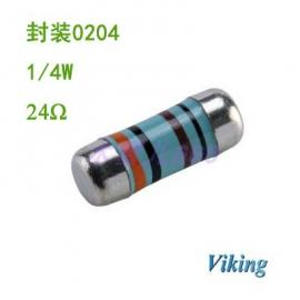 0204晶圆色环电阻24R 高精密