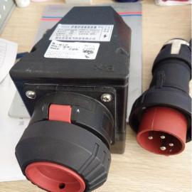 黑色塑料防爆防腐防尘插头插座16A380V/CZ0251
