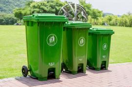 公园环卫垃圾桶-240L加厚分类垃圾桶-小区塑料分类垃圾桶