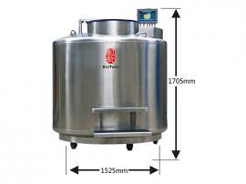 VT1800新型大口径不锈钢液氮生物容器