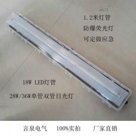 防爆吊杆式led日光灯2*18W全塑防腐荧光灯