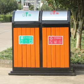 不锈钢分类桶厂区-不锈钢三分类垃圾桶-二分类不锈钢桶