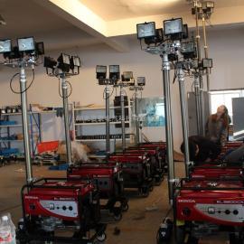 4*500W移动照明车4.5米升降气杆工程抢险消防应急灯