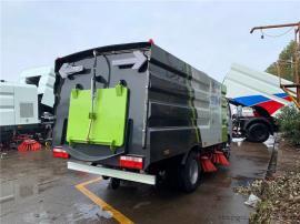 小型3方道路清扫车 小区清扫扫路车 电动小型扫路车图片