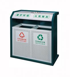 小区金属垃圾桶-街道金属分类垃圾桶厂-景区分类果壳箱