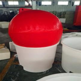 直径1米塑料浮球 水上展览塑料浮球 警示浮球