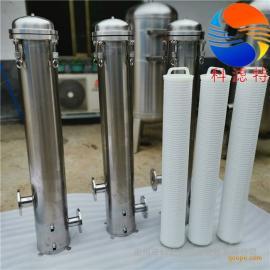 生活饮用水过滤不锈钢大通量精密过滤器40寸单芯