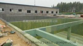 酸碱水槽玻璃钢防腐消防水池环氧树脂衬里