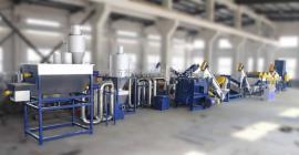 0.5-2吨/时处理量,PET塑料破碎清洗回收生产线,全方位解决方案