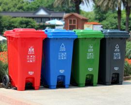 小区分类垃圾桶-公园分类果皮箱
