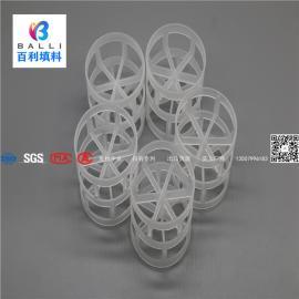百利填料 塑料鲍尔环填料