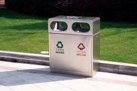 户外不锈钢三分类垃圾桶-室内不锈钢垃圾桶