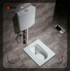 冲水水箱原理脚踏式冲厕器配件分析