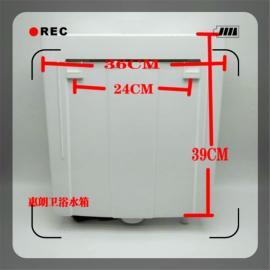 自制冲水水箱自动冲厕器热