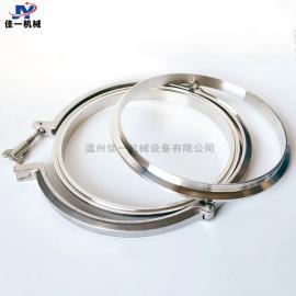 专注生产大规格不锈钢精铸卡箍卡盘 大尺寸不锈钢快装抱箍配端头