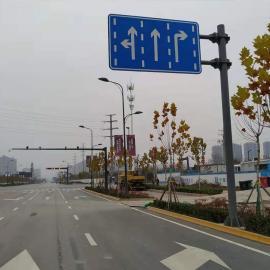 道路交通标识牌立杆双壁