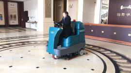 洁乐美YSD-A10座驾式双刷洗地机大型 商场地下车库用地面清洗机