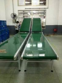 小型PVC输送传送带 流水线输送注塑机 电子厂包装皮带机