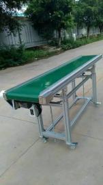 PVC绿色防滑皮带输送机 货物装卸传送带 电动升降皮带输送机