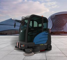 容恩全封闭式扫地车 重骑兵驾驶式物业电动清扫车R-ZQXS