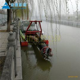 金盟 小型河道清淤船定制 河道清淤设备工厂直营 6寸