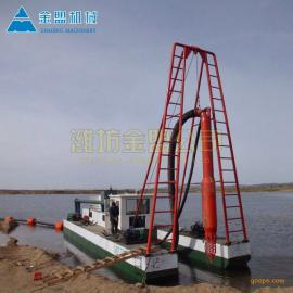金盟 每小时流量2500方的射吸式抽沙船介绍 10寸