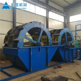 金盟 生产洗沙设备的工厂 水轮式洗沙机生产线 50t