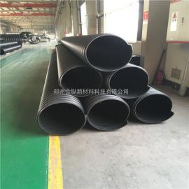 600 hdpe钢带波纹管 排污钢带管