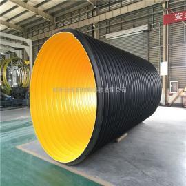 聚乙烯钢带波纹管 热熔连接钢带管