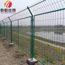 铁路框架护栏网防护栅栏公路铁丝网 1.8*3.0m 群恒