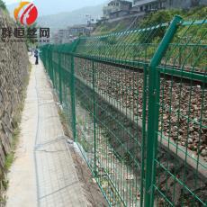 护栏低碳钢丝隔离框架护栏网高速公路别墅专用防护栏围网 1.8*3.0m 群恒
