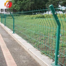 群恒 道路圈地隔离安全防护双边丝护栏网公路铁丝防撞双边丝护栏 1.8*3.0m