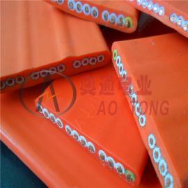 奥通 遥控电动随行耐寒伸缩门线6芯0.75mm2平方 TVVB