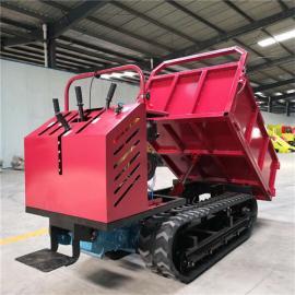 圣时 全地形小型履带运输车 液压控制翻斗车 SS-1.2