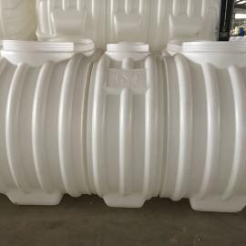 耐酸碱无缝隙三格式塑料化粪池 0.6/0.8/1/1.5/2立方